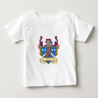 Owl Perching Knight Helmet Crest Drawing Baby T-Shirt