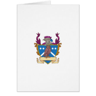 Owl Perching Knight Helmet Crest Drawing Card