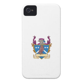 Owl Perching Knight Helmet Crest Drawing iPhone 4 Case