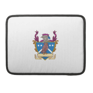 Owl Perching Knight Helmet Crest Drawing Sleeves For MacBook Pro