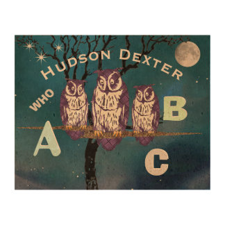 Owl Personalized ABC Cork Paper
