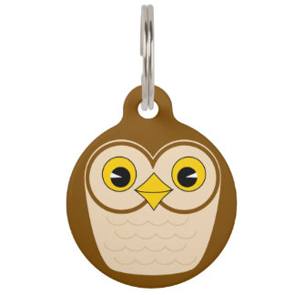 owl pet ID tag
