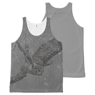 Owl photograph All-Over print tank top