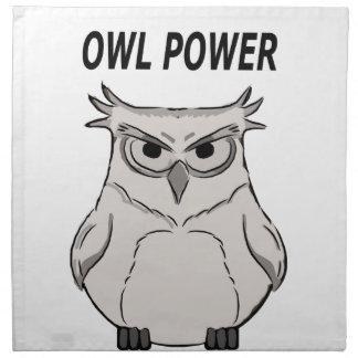 owl power napkin