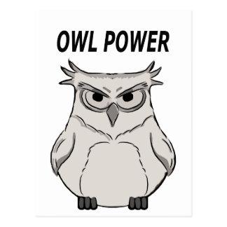 owl power postcard