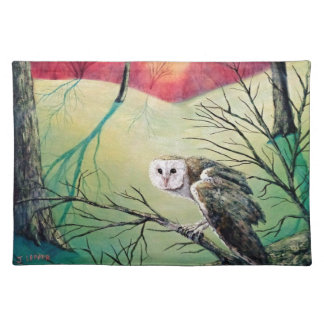 """Owl Products featuring """"Soren: Owl of Ga' Hoole"""" Placemat"""