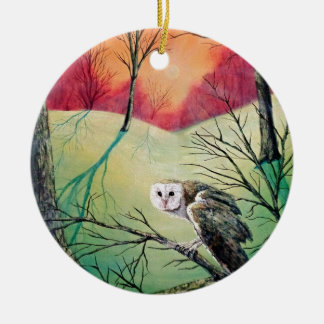 "Owl Products featuring ""Soren: Owl of Ga' Hoole"" Round Ceramic Ornament"