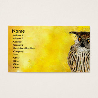 OWL Professional  Bird Design | Watercolors Business Card