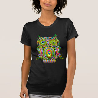 Owl Psychedelic Pop Art Tee Shirts
