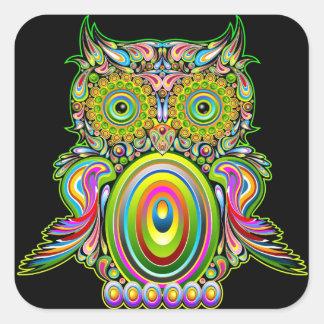 Owl Psychedelic Popart Sticker