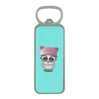 owl pussy hat magnetic bottle opener