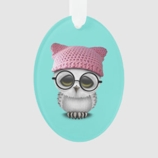 owl pussy hat ornament