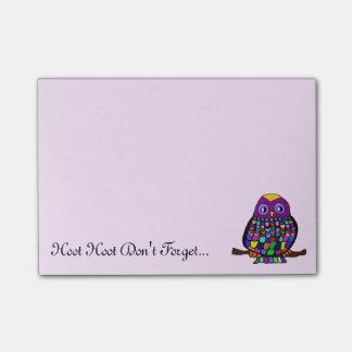 Owl Rainbow Post-it Notes