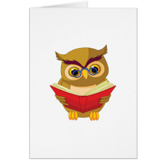 Owl Reading Card