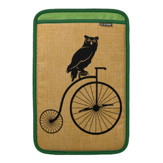 Owl Riding Vintage Bike MacBook Air Sleeve