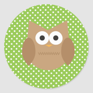 Owl Round Sticker