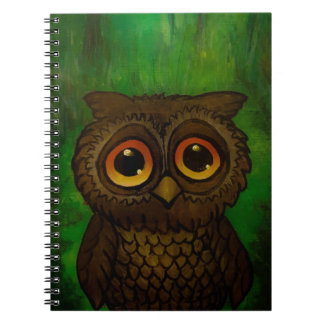 Owl sad eyes notebooks