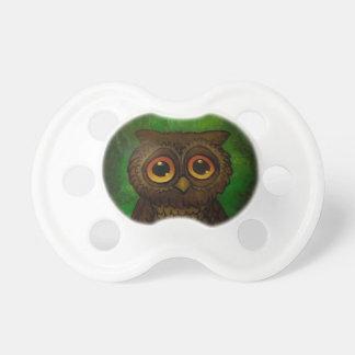 Owl sad eyes pacifier