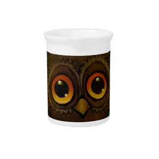 Owl sad eyes pitcher