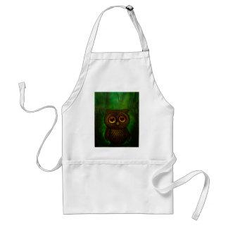 Owl sad eyes standard apron