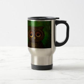 Owl sad eyes travel mug