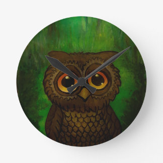 Owl sad eyes wallclocks