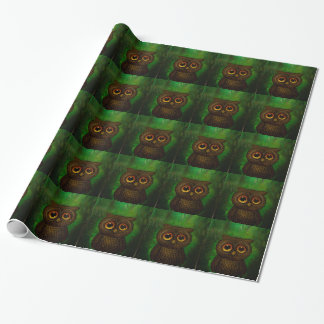 Owl sad eyes wrapping paper