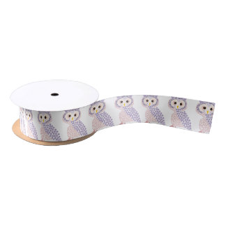 owl satin ribbon