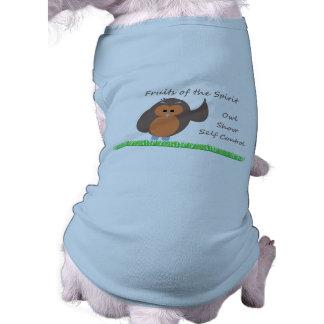 Owl Show Self Control Doggie Ringer T-Shirt Doggie T Shirt