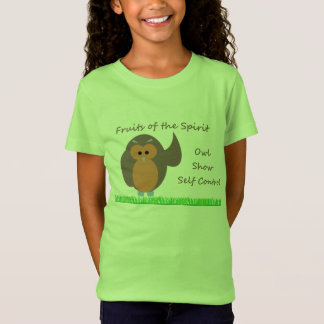 Owl Show Self Control Girls' LAT T-Shirt Jersey