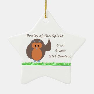 Owl Show Self Control Star Ornament