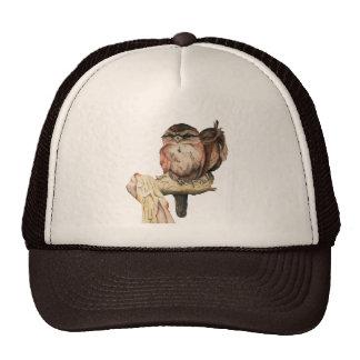 Owl Siblings Watercolor Portrait Trucker Hat