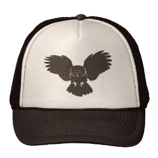 Owl Silhouette Lid Mesh Hats