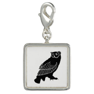 Owl Silhouette Photo Charms