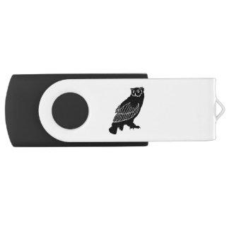 Owl Silhouette USB Flash Drive