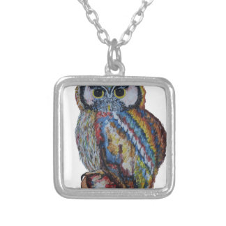 Owl Silver Plated Necklace