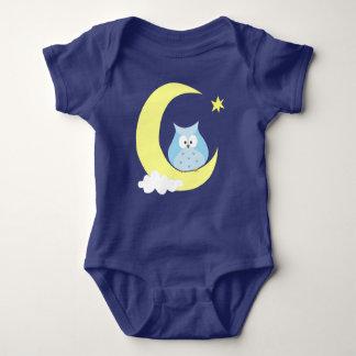 Owl sitting on the Moon Baby Bodysuit
