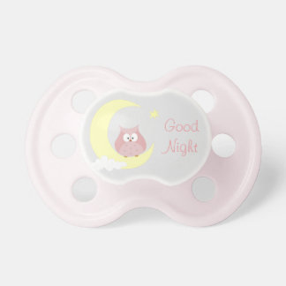 Owl sitting on the Moon Pacifier