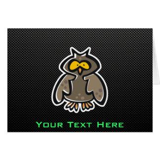 Owl; Sleek Greeting Card