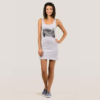 Owl Sleeveless Dress