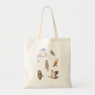 Owl species of the British isles Tote Bag