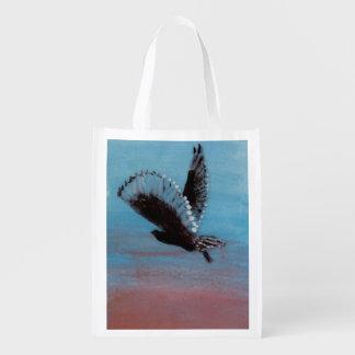 Owl Sunrise Bird Art Grocery Bag