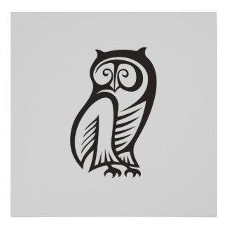Owl Symbol Black Announcements