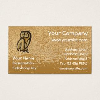 Owl Symbol Color Business Card