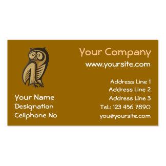 Owl Symbol Color Business Card Template