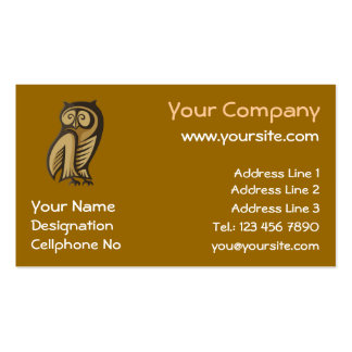 Owl Symbol Color Business Card Template