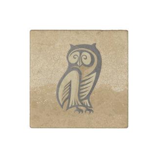 Owl Symbol Color Stone Magnet