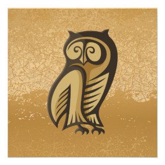 Owl Symbol Color Personalized Invitation