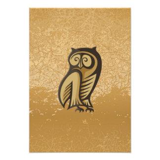 Owl Symbol Color Invites