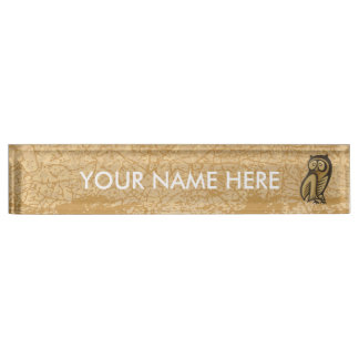Owl Symbol Colour Nameplates